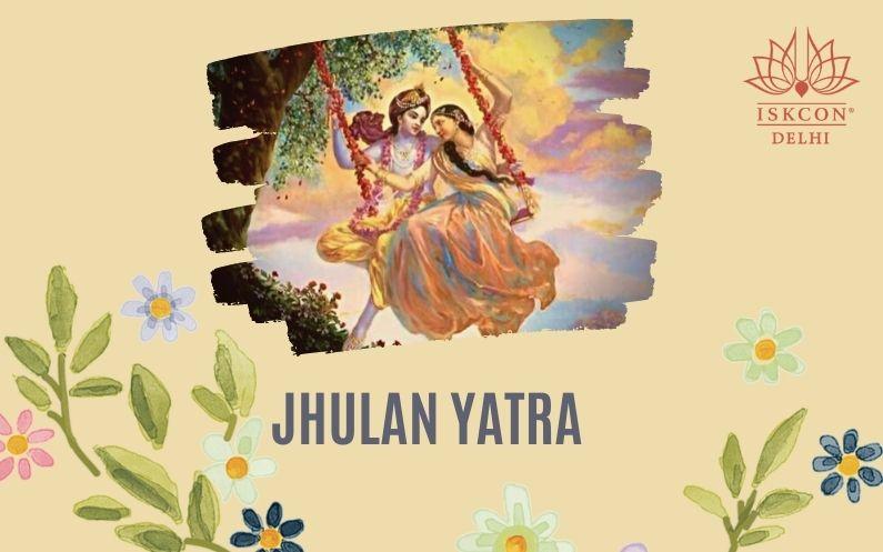 Jhulan Yatra celebration at ISKCON Delhi