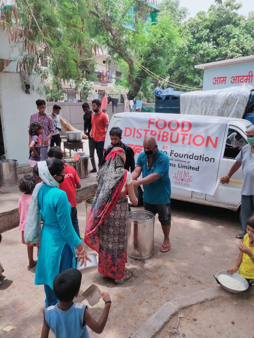 Food Donation Distribution at ISKCON Delhi